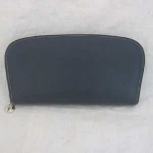 SOLD ON E BAY BALLY blue saffino leather wallet